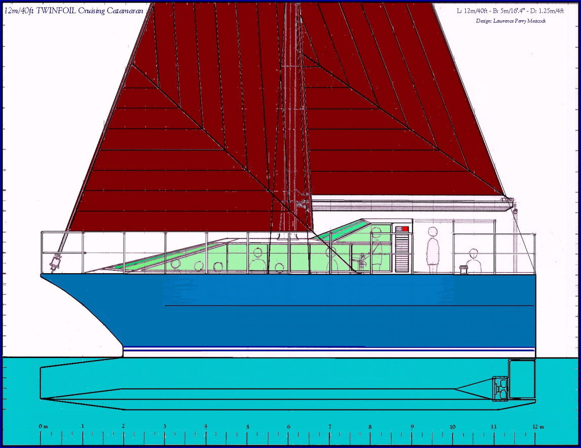 40ft Twinfoil Cruising Catamaran